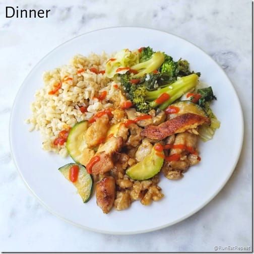 What I ate in a day dinner