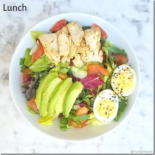 What I ate in a day lunch