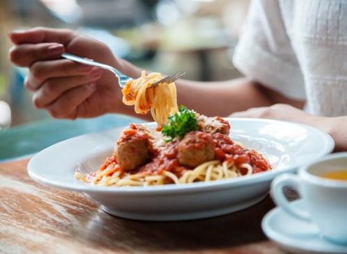Pasta sauce fork bowl