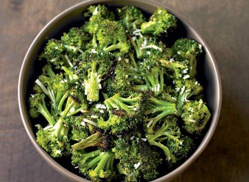 Vegetarian parmesan roasted broccoli