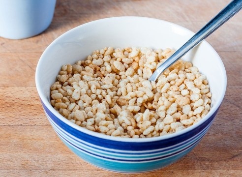 Rice krispies cereal bowl