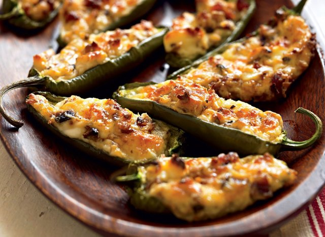 Healthy stuffed jalapenos
