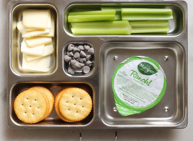 cheese and cracker bento box