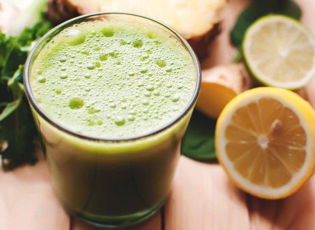 Lemon kale smoothie