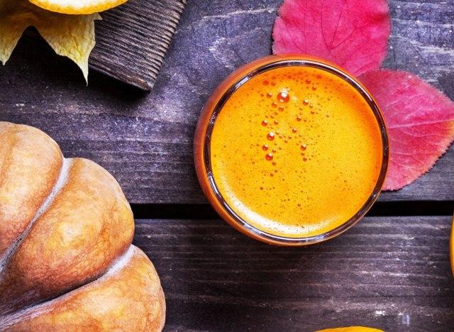 Orange sweet potato fall smoothie