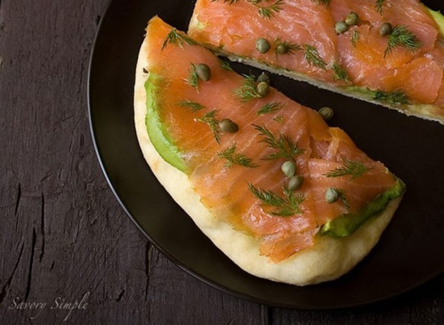 smoked salmon tartine recipe with watermark