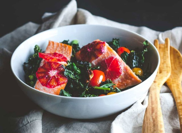 roasted kale salmon detox salad recipe