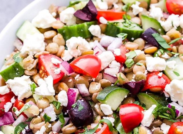 Mediterranean Lentil Salad recipe from Recipe Runner