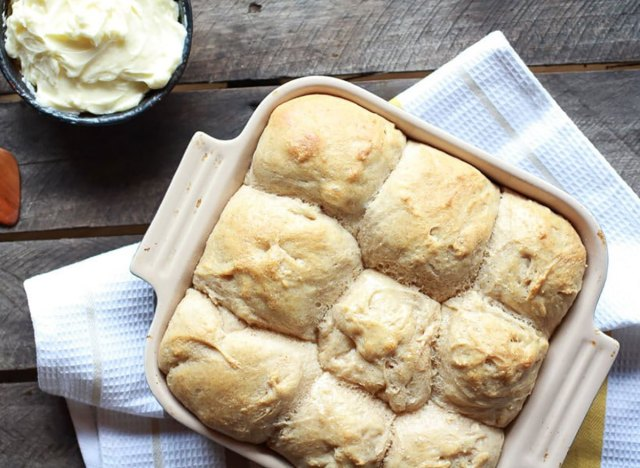 pull apart dinner rolls in baking dish