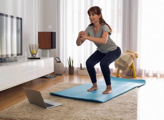 Woman doing butt squats