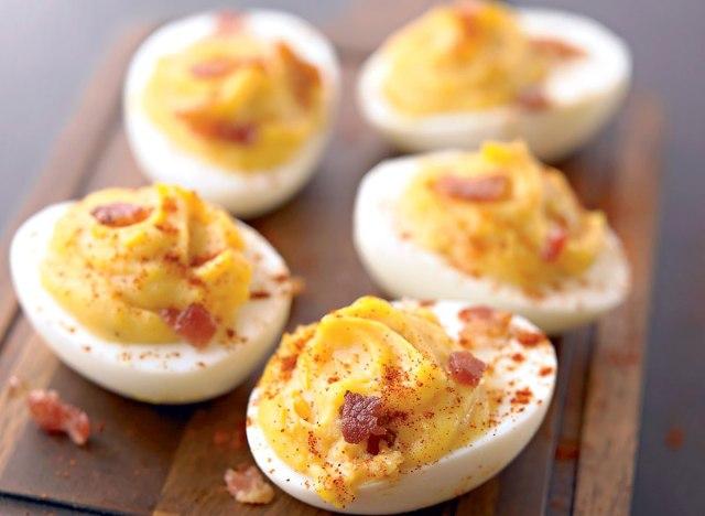 Healthy smokey deviled eggs