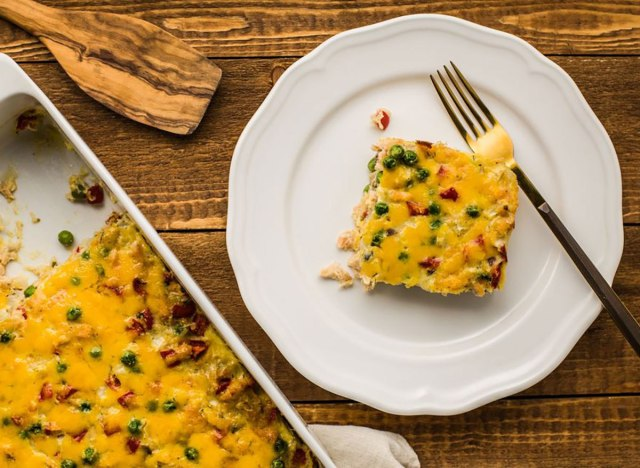 Salmon casserole recipe from The Spruce Eats