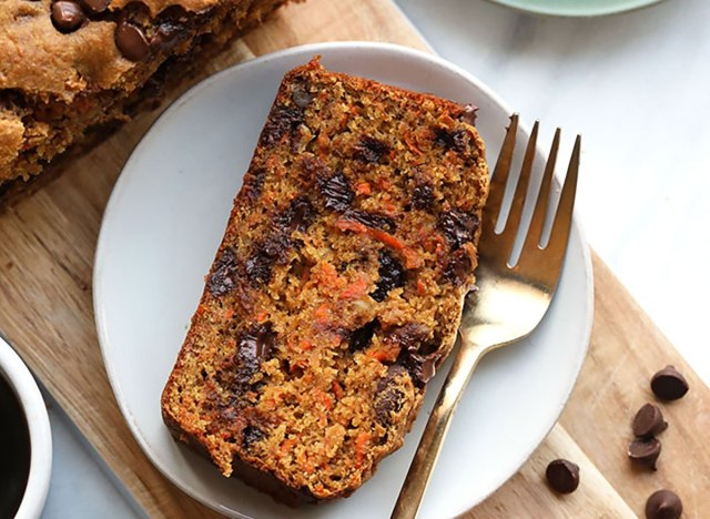 Chocolate Chip Carrot Cake Bread recipe from Fit Foodie Finds