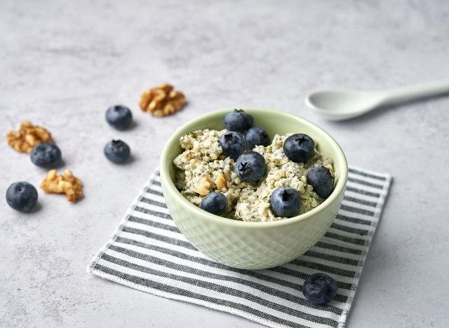 keto berries and cream overnight oats