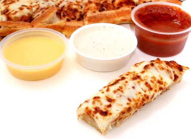 pizza sticks with dipping sauces