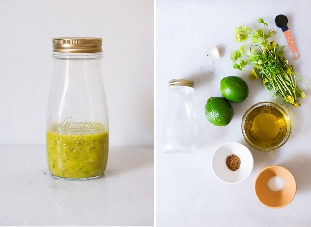 cilantro lime vinaigrette with ingredients