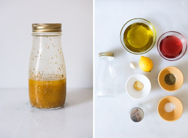 italian vinaigrette with ingredients