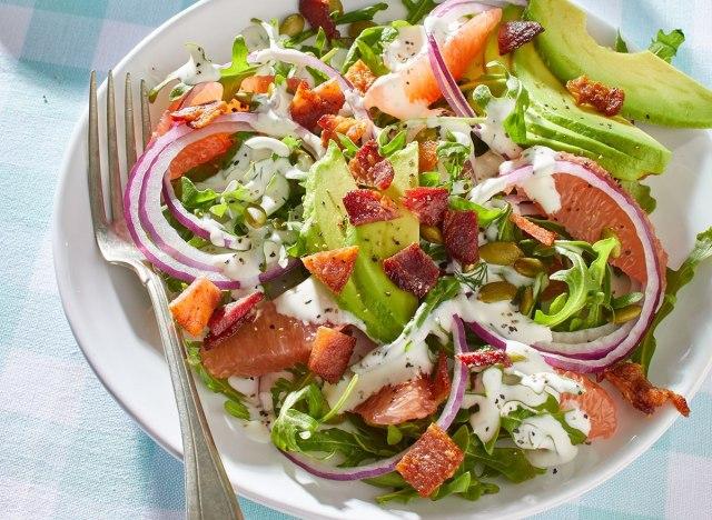 keto arugula grapefruit salad
