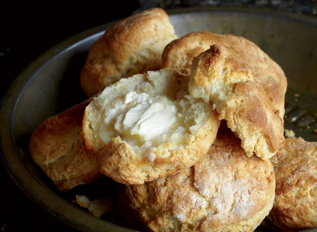 Low-calorie flaky southern biscuits