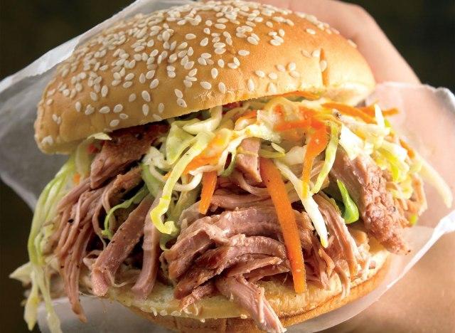 Paleo pulled pork sandwich