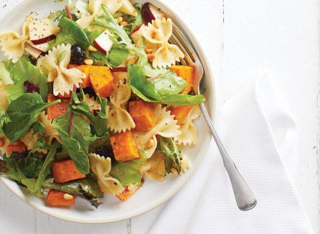 Butternut squash pasta salad