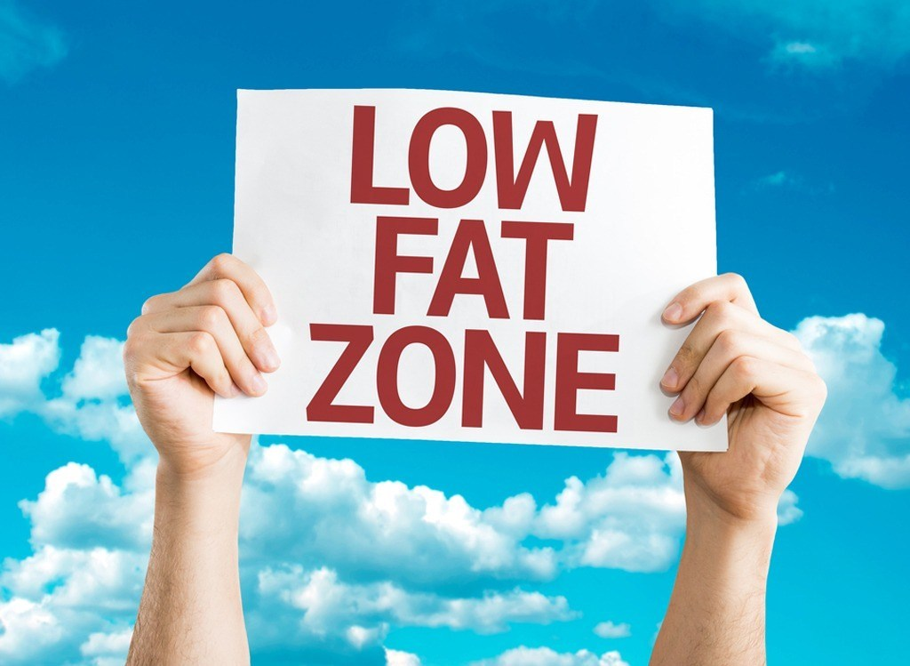 low fat zone sign