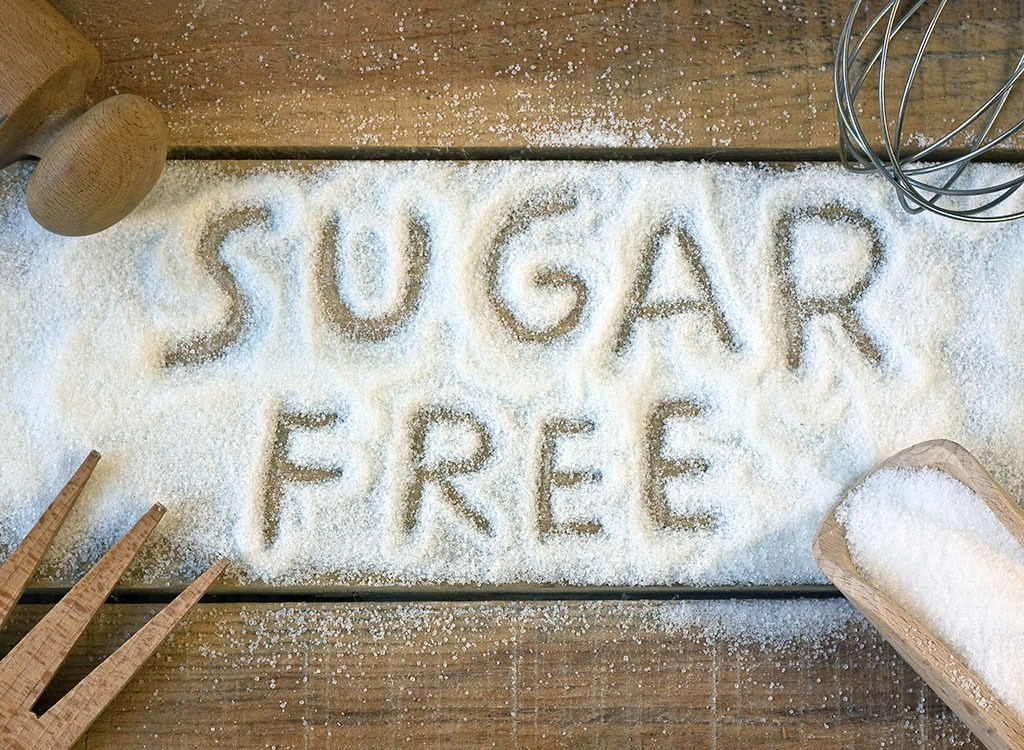 sugar free written in sugar