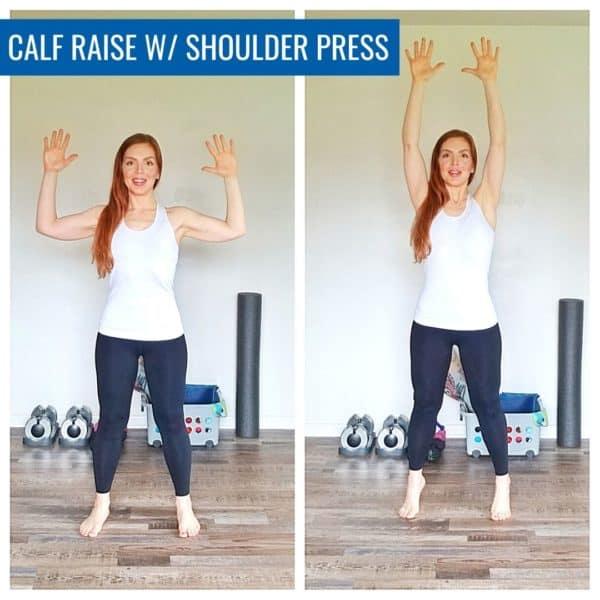 Calf Raise with Shoulder Press