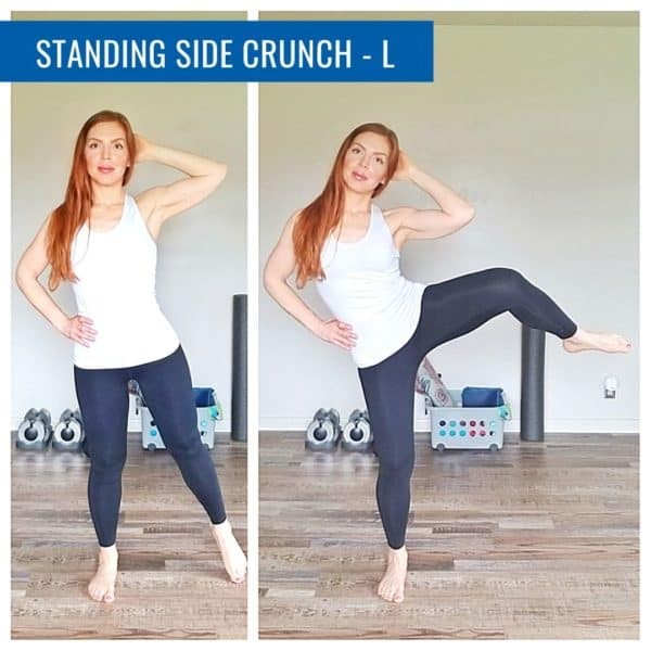 standing crunch left