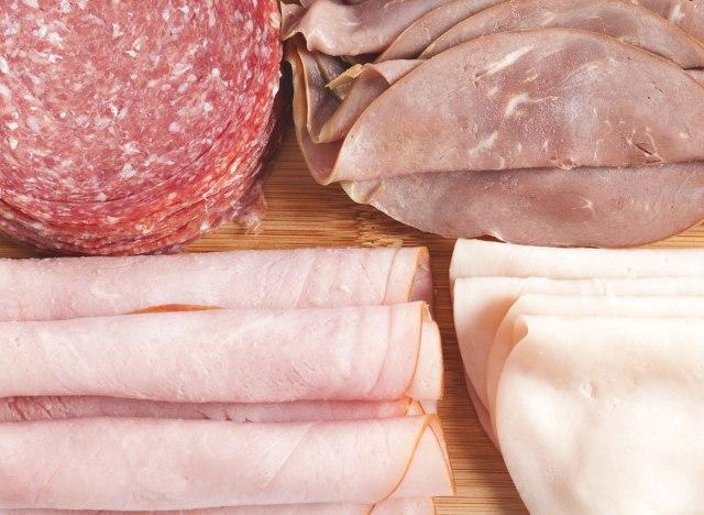 Processed deli meat cold cuts