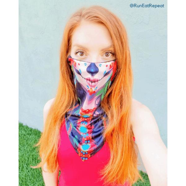 face mask redheaded Mexican dia de los muertos