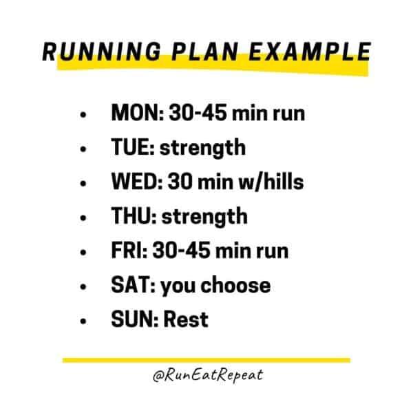 running workout plan example