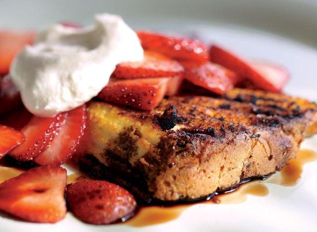 Vegetarian strawberry shortcake with balsamic