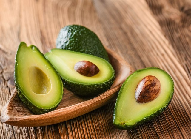 avocado halves in bowl