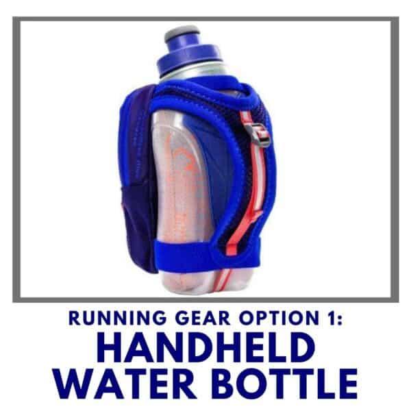 runner water bottle running gear