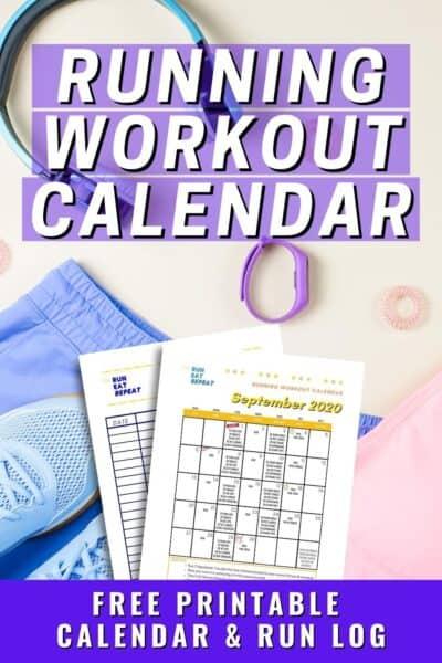 Running Plan Calendar printable