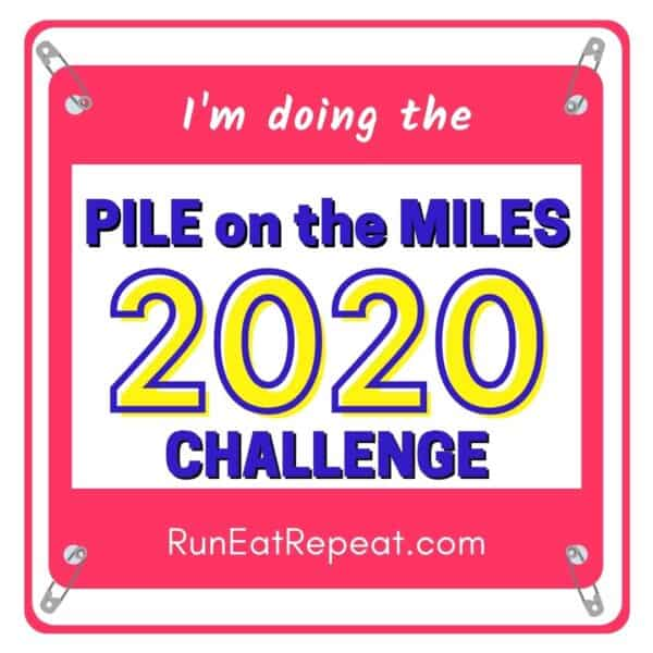 Running Challenge bib social share @RunEatRepeat - Pink