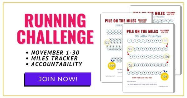 Virtual Running Challenge post