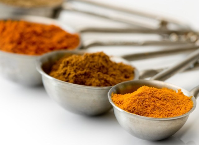 Measuring spoons of spices