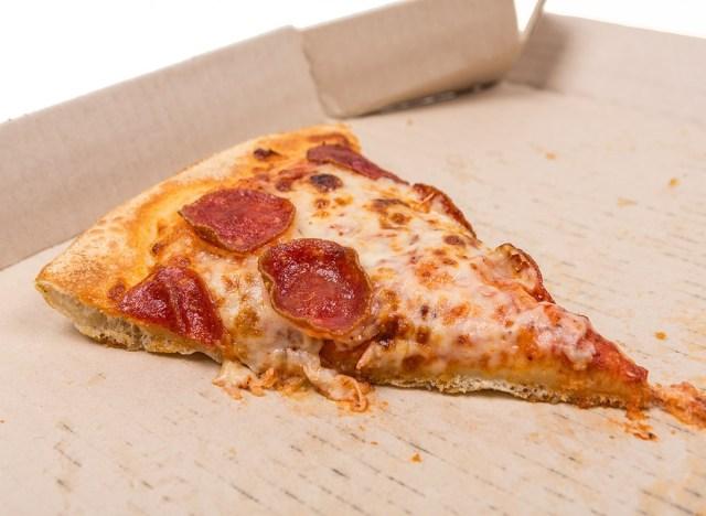 leftover pizza in box