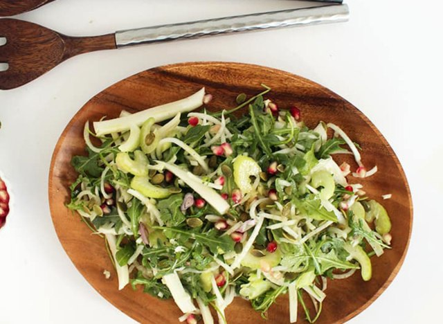 fennel, celery and pomegranate salad