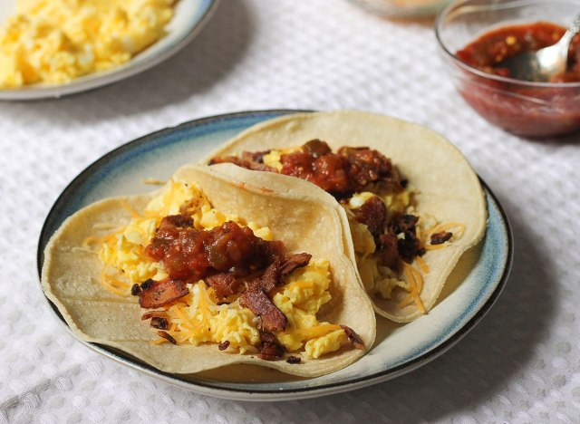 breakfast tacos recipe on a plate