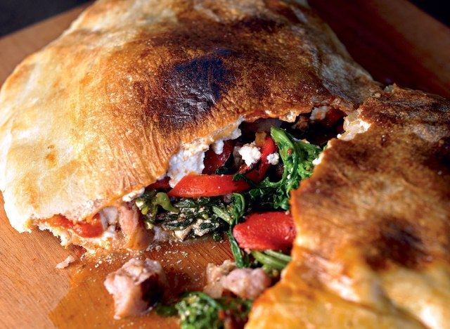 Healthy loaded calzone
