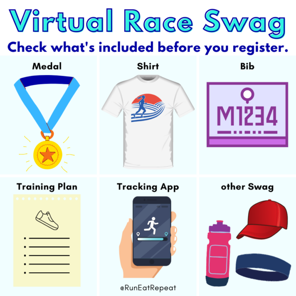 Virtual Races Medals and Shirts