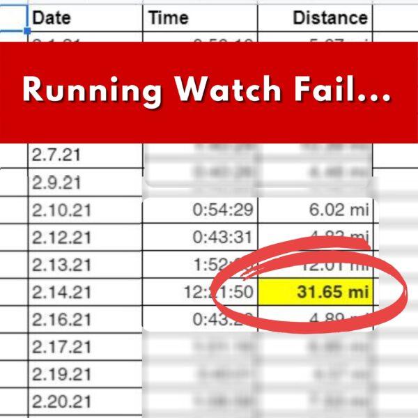 Running watch fail Miles Recap