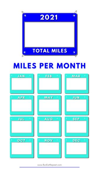 Running Miles Instagram Story Template