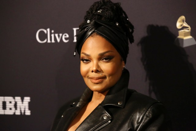 janet jackson in black outfit on red carpet