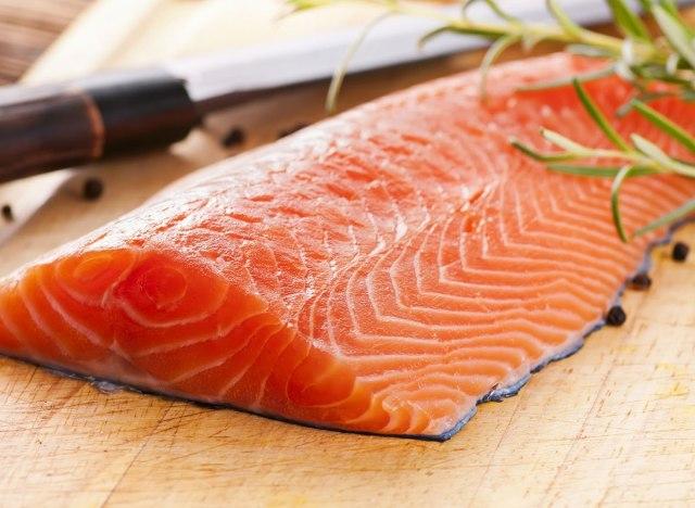 wild salmon with garnish