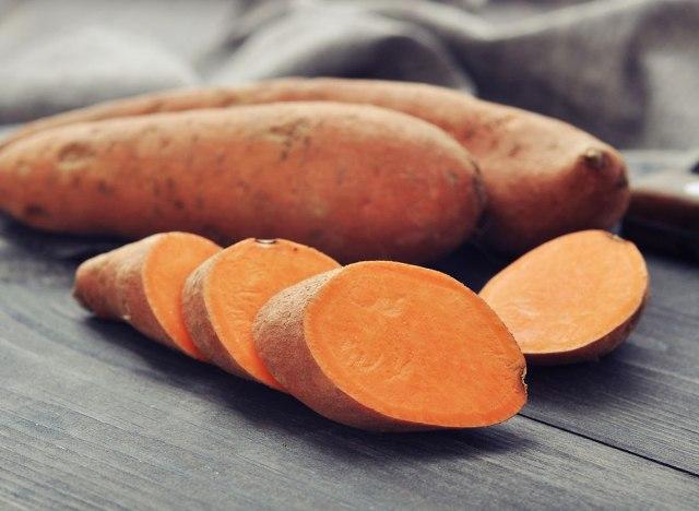 sliced sweet potatoes