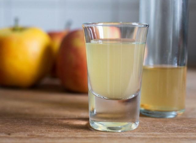 Shot of apple cider vinegar